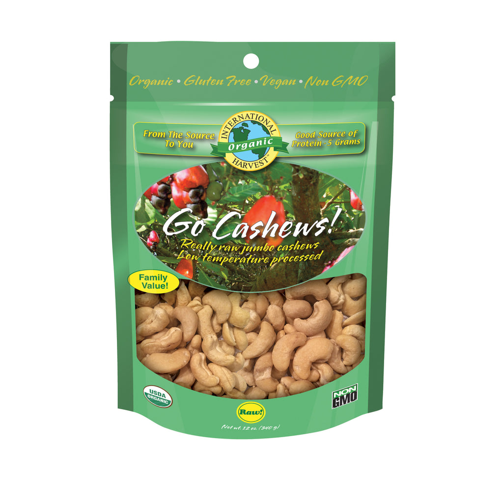 Go Cashews! Really Raw Jumbo Cashews