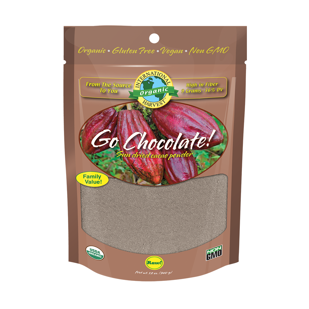 Go Chocolate! Sun Dried Cacao Powder