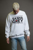 Sasha Grey Heart Sweatshirt White, Sasha Grey Heart Sweatshirt, White Sasha Grey Heart Sweatshirt, Sasha Grey Heart, Sasha Grey Collection, Sasha Grey Sweatshirt, I Heart Sasha Grey