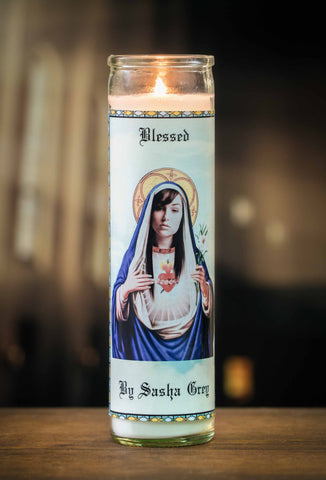 Sasha Grey Prayer Candle