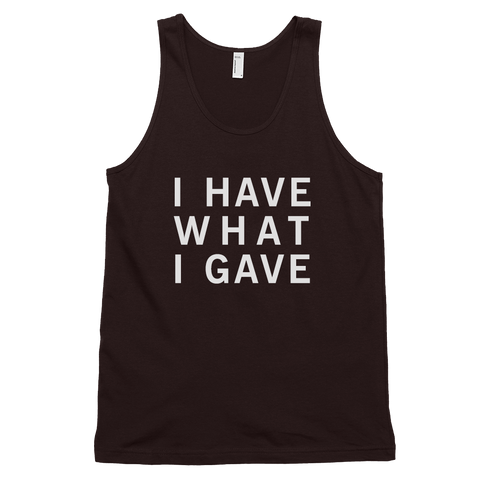 Black I Have What I Gave Tanktop, I Have What I Gave Tanktop Black, Sasha I Have, Sasha Grey I Have, Sasha Grey I Have What I Gave,  Sasha Grey Collection