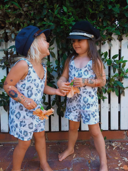 Cloud Leopard Overalls Girls