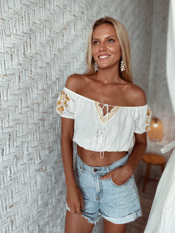 Sunny Embroidered Top