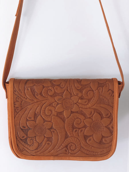 Waterlily Leather Bag