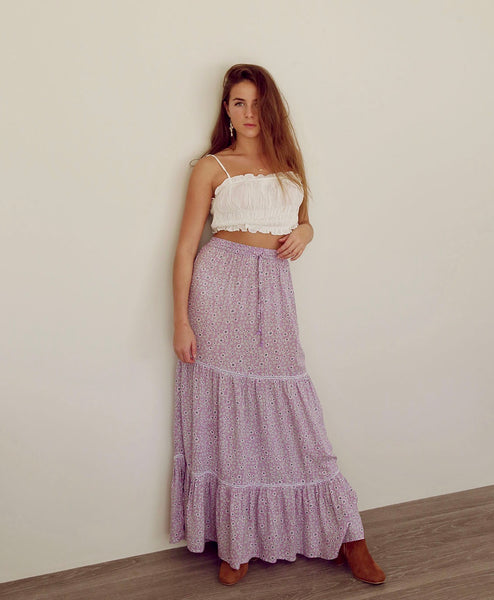 Daisy Dreams Tier Skirt Mauve