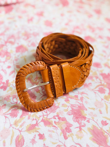 Monet Plaited Leather Belt