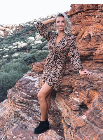 Mali Leopard Shirt Dress