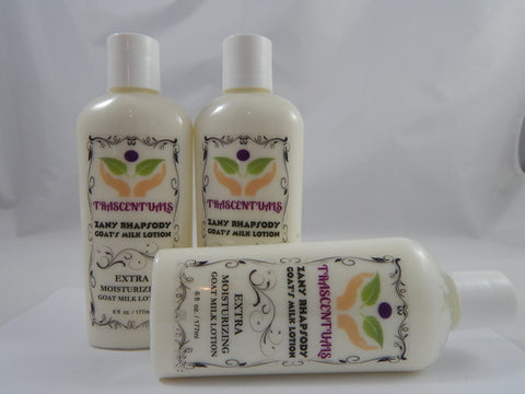 Zany Rhapsody Moisturizing Goat Milk Body Lotion - TRASCENTUALS