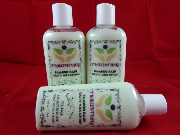 Goat Milk Body Lotion Bamboo Rain - TRASCENTUALS