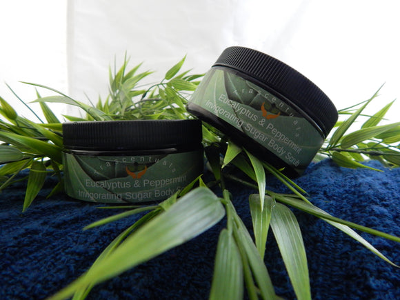 Sugar Scrub Invigorating Eucalyptus and Peppermint - TRASCENTUALS