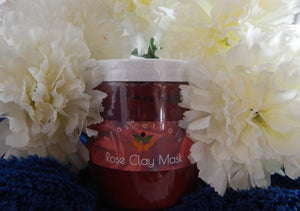 Clay Face Mask with Rose and Brazilian Red Clay - TRASCENTUALS