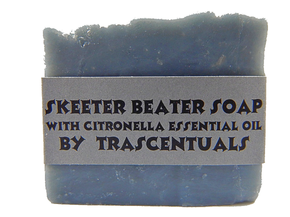 Skeeter Beater Soap with Citronella Essential Oil To Ward Off Mosquitoes and Other Biting Insects - TRASCENTUALS