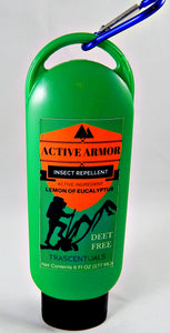 Active Armor Insect Repellent Lotion For Camping Hiking and All Outdoor Activities Uses Lemon of Eucalyptus Essential Oil as Active Ingredient - TRASCENTUALS