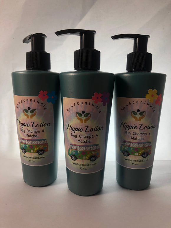 HIPPIE LOTION with NAG CHAMPA and MATCHA - TRASCENTUALS