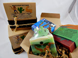 Men's Soap Gift Set 3 All Natural Soaps in 1 Gift-able Box W/ Ribbon and Bow - TRASCENTUALS