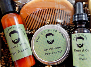 4 Piece Natural Beard Care Kit in Gift Box with 4 Available Scents - TRASCENTUALS