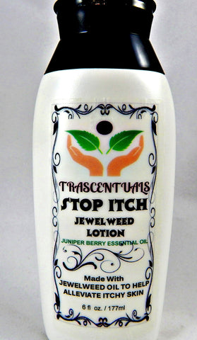 Stop Itch Jewelweed Lotion For Natural Itch Relief From Insect Bites Poison Ivy or Dry Skin - TRASCENTUALS