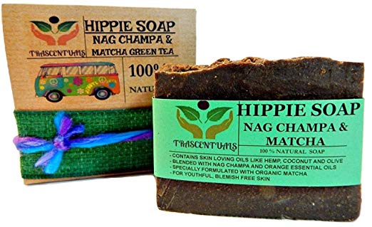 Hippie Soap  Nag Champa  with Organic Matcha Green Tea - TRASCENTUALS