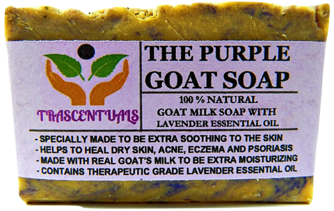 Lavender Goat Milk Soap All Natural - TRASCENTUALS