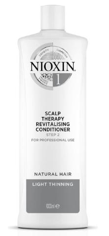 NIOXIN SYSTEM 1 SCALP THERAPY REVITALISING CONDITIONER FOR NATURAL HAIR WITH LIGHT THINNING 1000ML