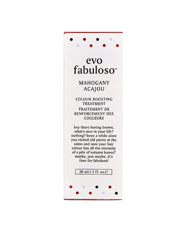 EVO FABULOSO MAHOGANY COLOUR BOOSTING TREATMENT 30ML
