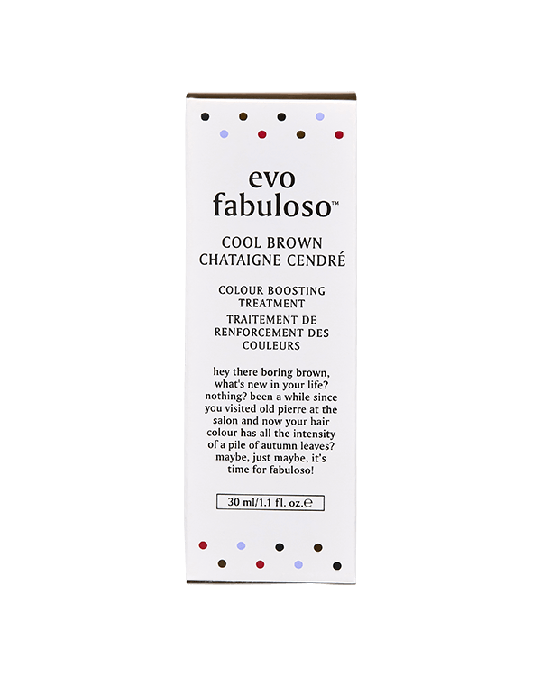 EVO FABULOSO COOL BROWN COLOUR BOOSTING TREATMENT 30ML