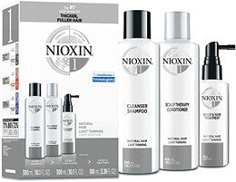 NIOXIN SYSTEM 1 - 3 PIECE TRIAL KIT FOR LIGHTLY THINNING NATURAL HAIR