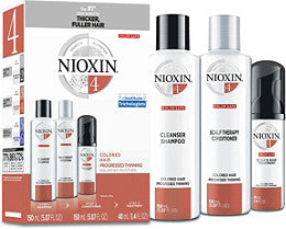 NIOXIN SYSTEM 4 - 3 PIECE KIT FOR NOTICEABLY THINNING COLOURED HAIR