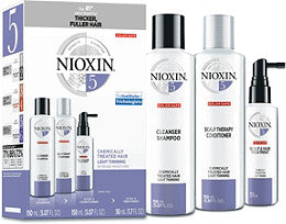 NIOXIN SYSTEM 5 - 3 PIECE KIT FOR LIGHTLY THINNING CHEMICALLY TREATED HAIR