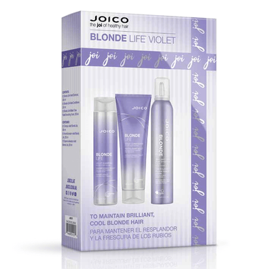 JOICO BLONDE LIFE VIOLET 3 PIECE GIFT SET FOR TONING BLONDE HAIR