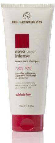 DE LORENZO NOVAFUSION INTENSE COLOUR CARE SHAMPOO - RUBY RED 200ML