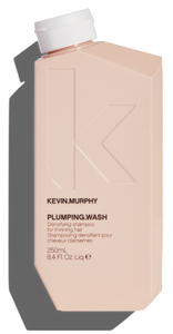 KEVIN MURPHY PLUMPING WASH 250ML A thickening shampoo designed to strengthen and densify fine, thin hair while also leaving your hair and scalp revitalised and refreshed.
