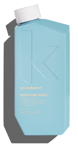 KEVIN MURPHY REPAIR ME WASH 250ML A reconstructing shampoo created with powerful proteins to help strengthen dry, damaged hair while cleansing.