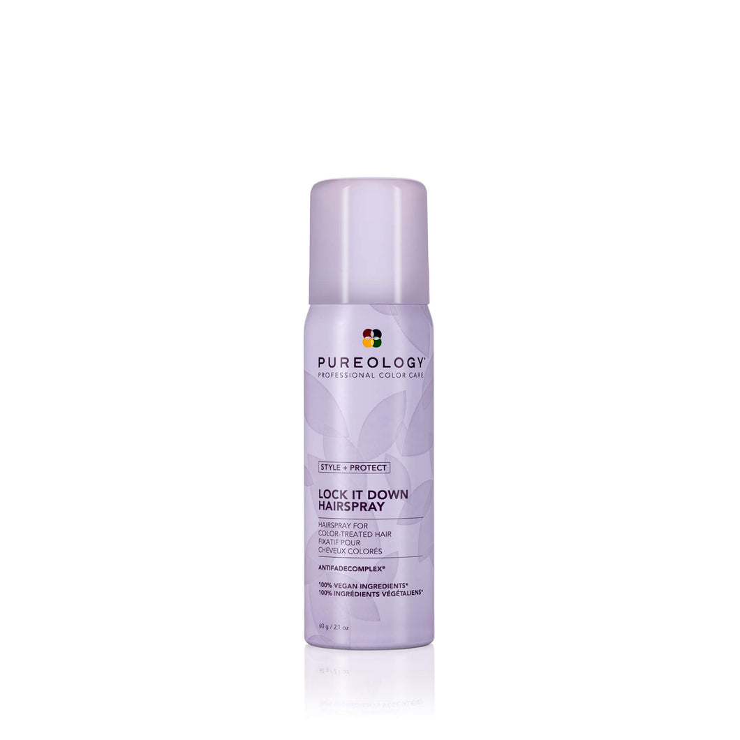 PUREOLOGY STYLE + PROTECT LOCK IT DOWN HAIRSPRAY TRAVEL SIZE 60ML