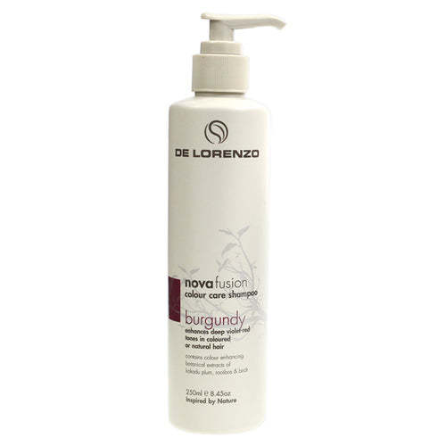 DE LORENZO NOVAFUSION COLOUR CARE SHAMPOO - BURGUNDY 250ML