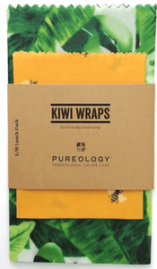 KIWI WRAPS REUSABLE BEESWAX FOOD WRAPS - GOLD BEE