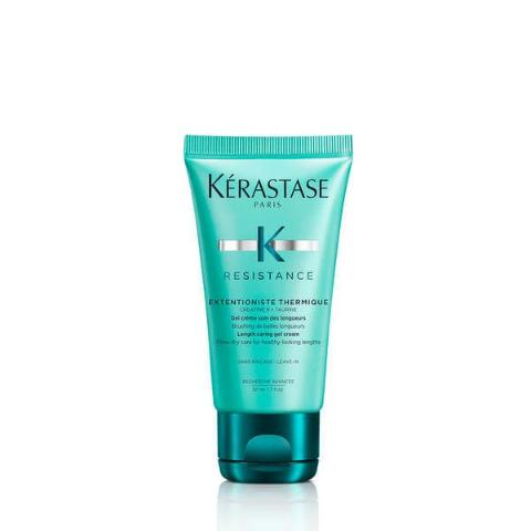 KÉRASTASE RÉSISTANCE THERMIQUE EXTENTIONISTE TRAVEL SIZE 50ML A thermo-protecting blow dry and heat-styling cream designed to seal lengths and prevent split ends.