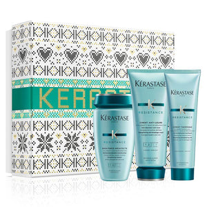 KÉRASTASE RÉSISTANCE LIMITED EDITION HOLIDAY COFFRET FOR DAMAGED HAIR