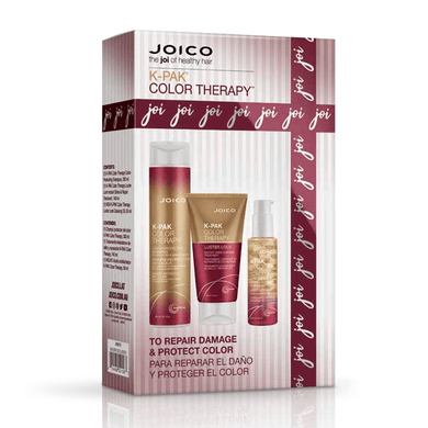 JOICO KPAK COLOR THERAPY 3 PIECE GIFT SET FOR DRY DAMAGED HAIR VALUED AT $114