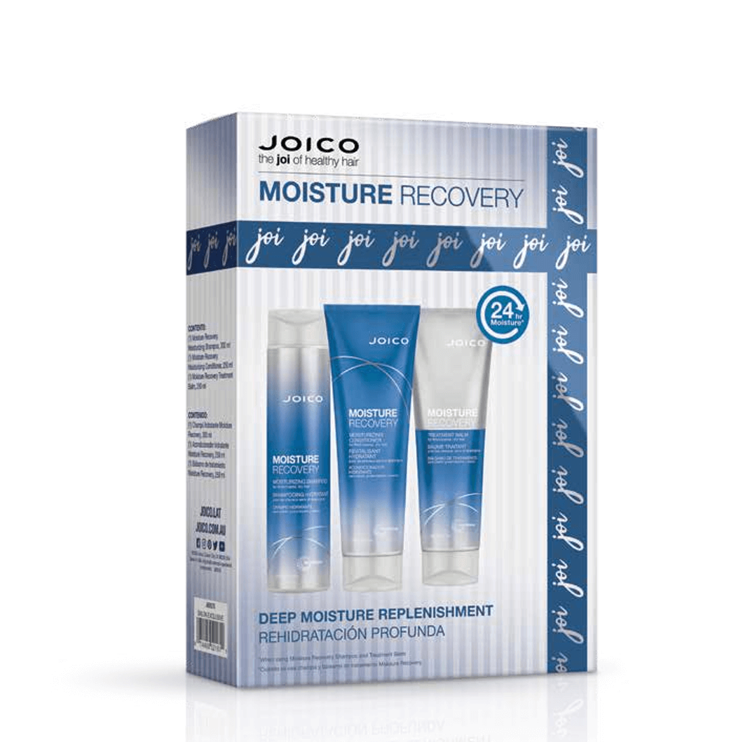 JOICO MOISTURE RECOVERY 3 PIECE GIFT SET FOR DRY HAIR VALUED AT $116
