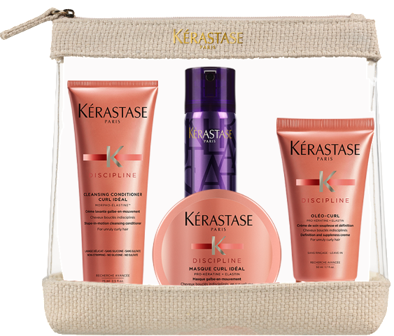 KÉRASTASE DISCIPLINE CURL IDEAL TRAVEL SET FOR CURLY HAIR