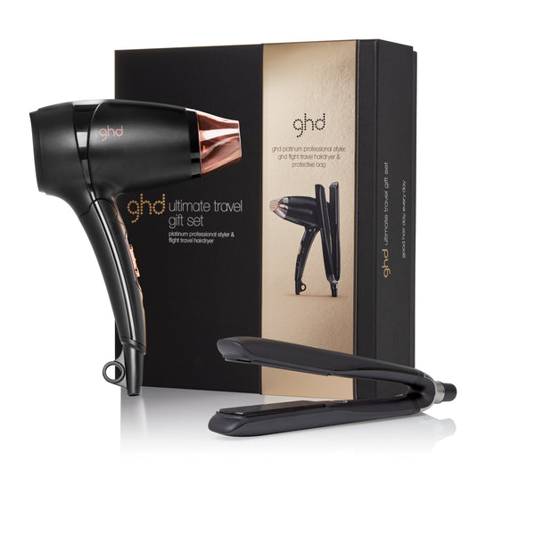 ULTIMATE TRAVEL GIFT SET GHD VALUED AT $479 ghd Platinum styler and ghd Flight travel dryer