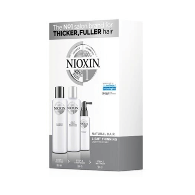 NIOXIN 3D CARE SYSTEM 1 - TRIO FOR LIGHTLY THINNING NATURAL HAIR