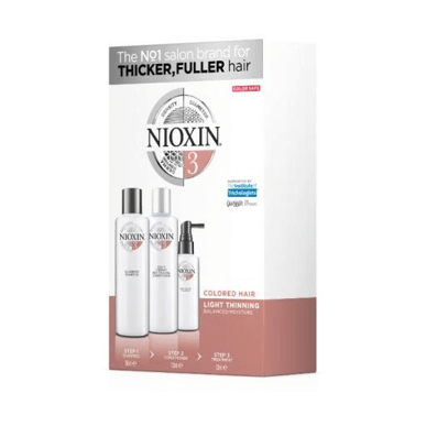 NIOXIN 3D CARE SYSTEM 3 - TRIO FOR LIGHTLY THINNING COLOURED HAIR