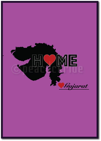 """Gujarat Home Love"" Wall  Poster/Frame"
