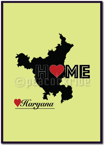 """Haryana Home Love"" Wall Poster/Frame"