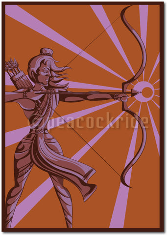 """Lord Rama"" Wall Poster/Frame"