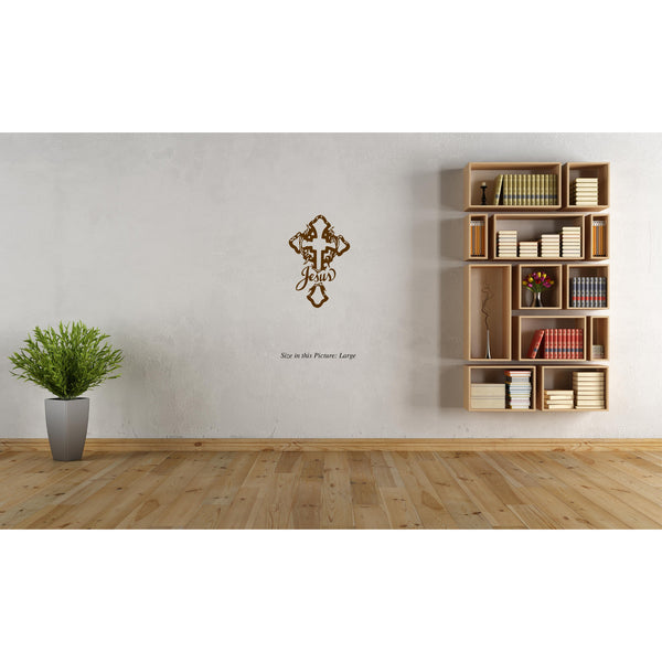 """Jesus Christ"" Cross ,""Jesus Christ"" Cross  Sticker,""Jesus Christ"" Cross  Wall Sticker,""Jesus Christ"" Cross  Wall Decal,""Jesus Christ"" Cross  Decal"