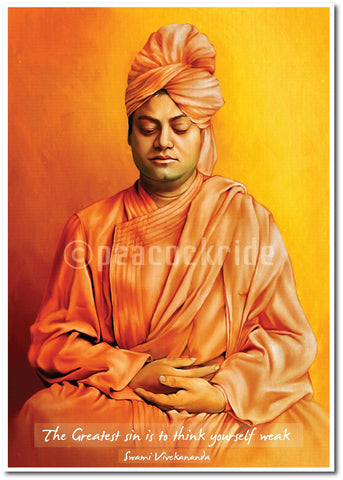 Swami Vivekananda Quote-The Greatest Sin wall poster/Frame