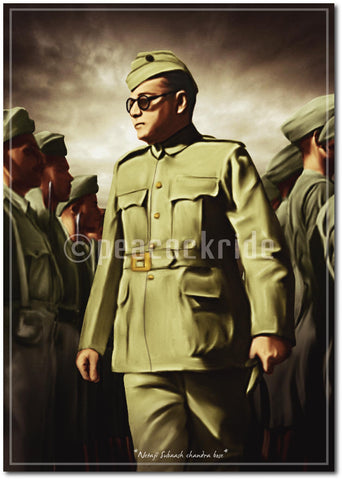 Netaji Subhas Chandra Bose-The Real Hero Wall Poster/ Frame